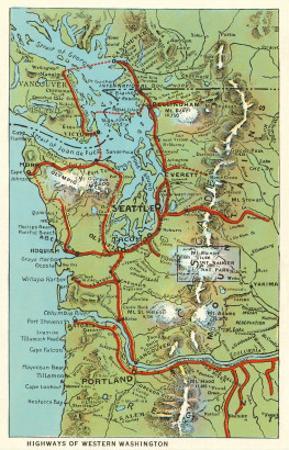 Map of Western Washington