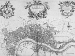 Map of Westminster, the City of London and Southwark, 1720