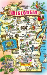 Map of Wisconsin, Attractions