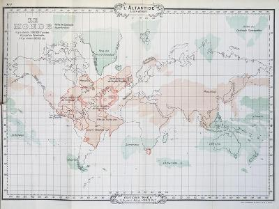 Map of World, from Histoire De L'Atlantide--Giclee Print