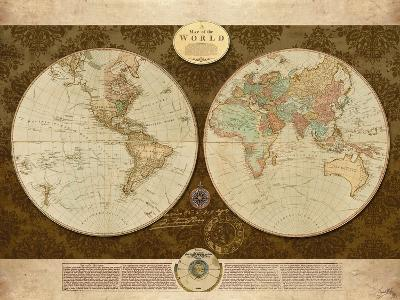 Map of World-Elizabeth Medley-Premium Giclee Print