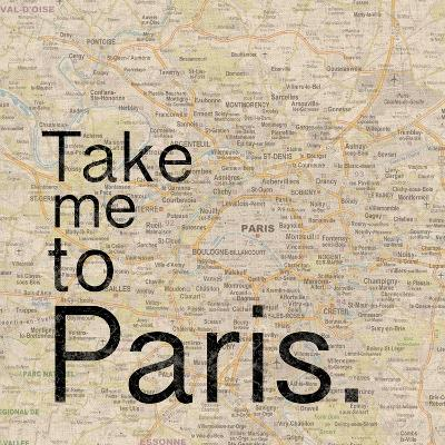 Map Paris-Lauren Gibbons-Premium Giclee Print