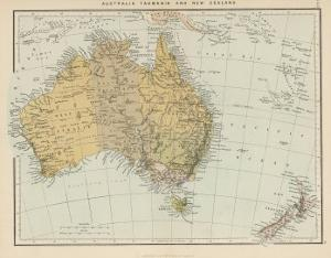 Map Showing Australia Tasmania New Zealand and Neighbouring Islands