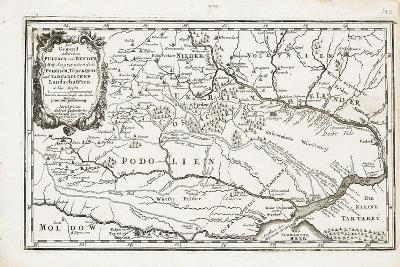 Map Showing Both Poltava and Bender-Gabriel Bodenehr the Elder-Giclee Print