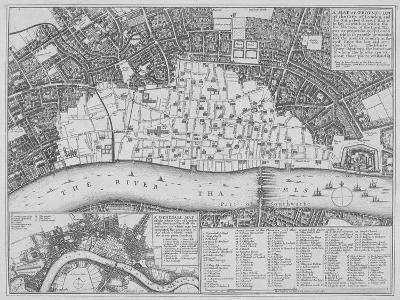 Map Showing the Extent of the Damage Caused by the Great Fire of London, 1666-Wenceslaus Hollar-Giclee Print