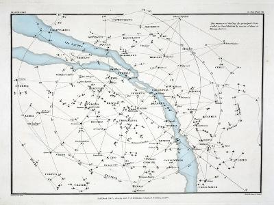 Map Showing the Principal Stars Which are Visible in Great Britain-Alexander Jamieson-Giclee Print
