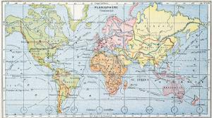 Map Showing the Principal World Trade Shipping Routes, 1912