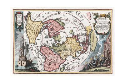 Map Showing Track of Magellan's Voyage around the World--Giclee Print