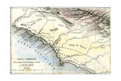 Map South America 1869--Giclee Print