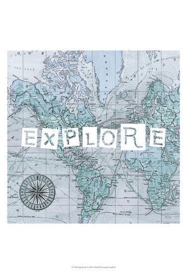 Map Words VI-Studio W-Art Print