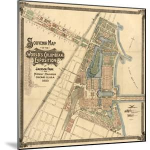 Map: World's Fair, 1893