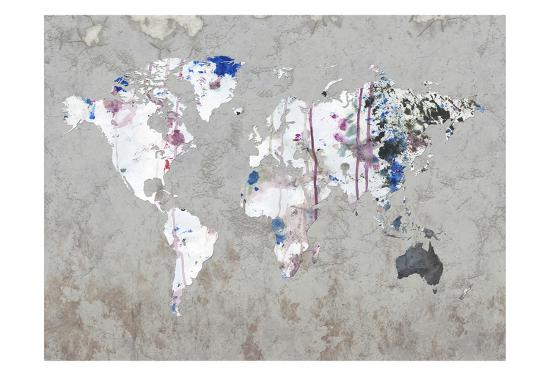 Map Your Adventures-Sheldon Lewis-Art Print