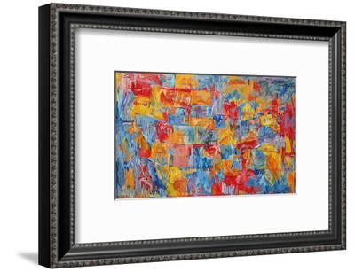 Map-Jasper Johns-Framed Art Print