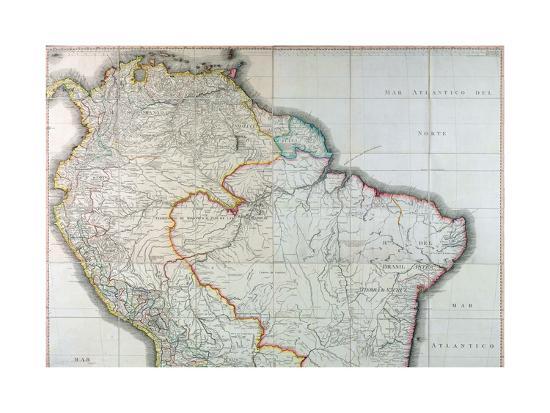 Mapa Geografico de America Meridional, 1799-Juan de la Cruz Cano y Olmedilla-Giclee Print