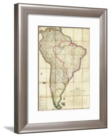 Mapa Geografico de America Meridional, c.1799-Juan De La Cruz Cano Y Olmedilla-Framed Art Print