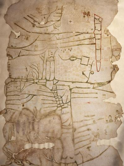Mappa Mundi, Created in England or France, Ink on Parchment, Circa 1191-1218--Giclee Print