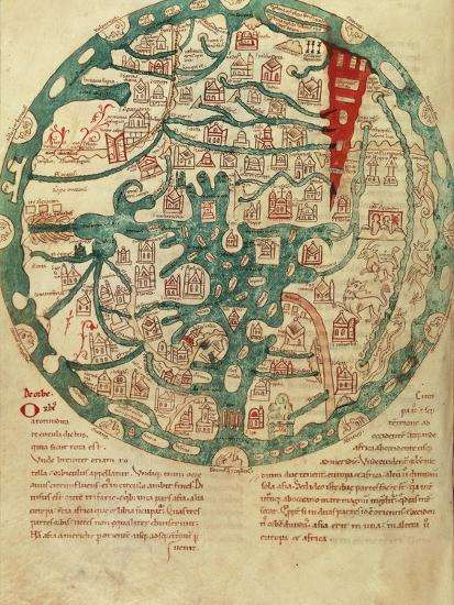 Mappamundi, after Isidore of Seville, C 1130-1135 Giclee Print by | Art com