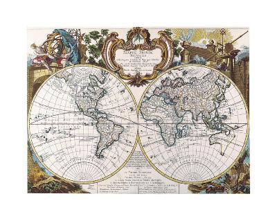 Mappe Monde-1744-Dan Sproul-Giclee Print
