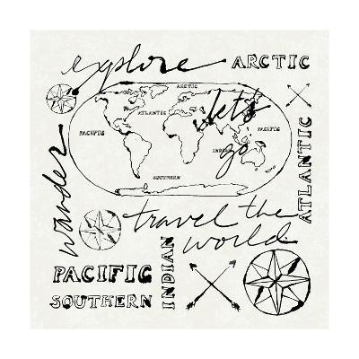 Mapped Shorelines II-Sue Schlabach-Art Print
