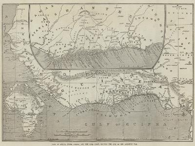 Maps of Africa, Upper Guinea, and the Gold Coast, Showing the Site of the Ashantee War-John Dower-Giclee Print