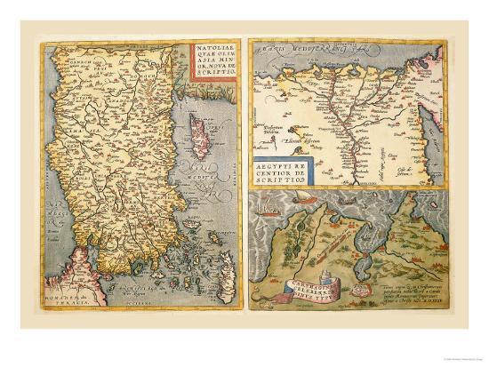Maps of turkey egypt and libya art print by abraham ortelius the maps of turkey egypt and libyaby abraham ortelius gumiabroncs Choice Image
