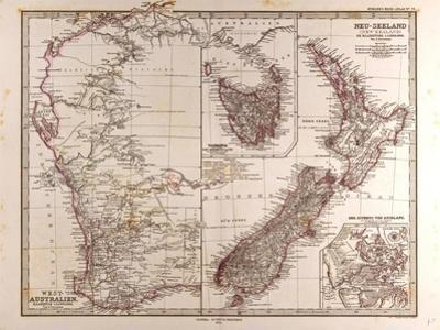 Maps of Western Australia, Tasmania and New Zealand, 1872
