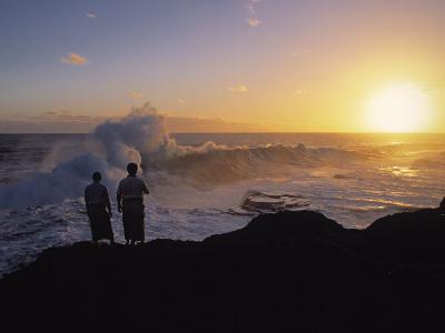 Mapua'a Vaca Blow Holes, Tongatapu Island, Tonga-Neil Farrin-Photographic Print
