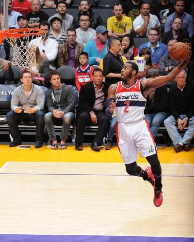 Mar 21, 2014, Washington Wizards vs Los Angeles Lakers - John Wall-Andrew Bernstein-Photo