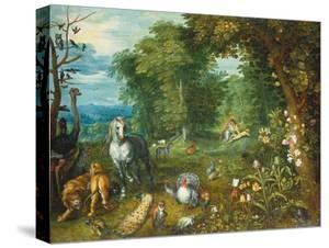 Landscape with the Creation of Eve by Mar Brueghel the Elder