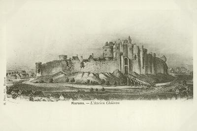 Marans, the Ancient Chateau--Giclee Print
