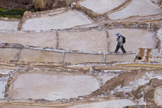 Maras Saltpan Salinas in the Sacred Valley of the Incas, near Cusco, Peru, South America-Julio Etchart-Photographic Print