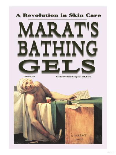 Marat's Bathing Gels: A Revolution in Skin Care--Art Print