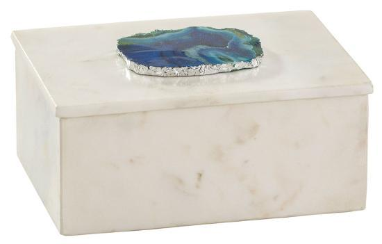Marble and Blue Agate Box--Home Accessories