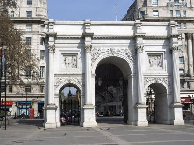 Marble Arch and Oxford Street, London, England, United Kingdom, Europe-Ethel Davies-Photographic Print