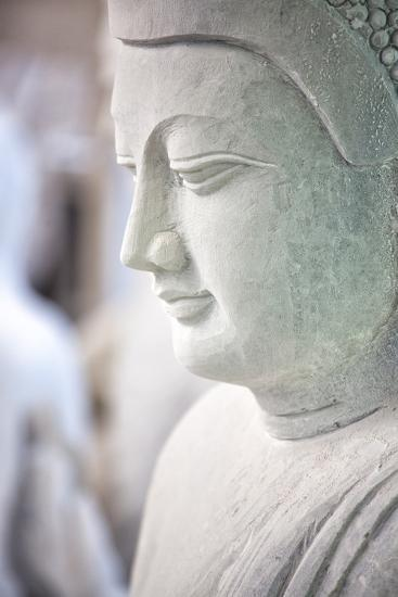 Marble Buddha Images Waiting to Be Finished at a Stone Carver's in Amarapura-Lee Frost-Photographic Print