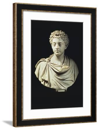 Marble Bust of Emperor Commodus--Framed Giclee Print