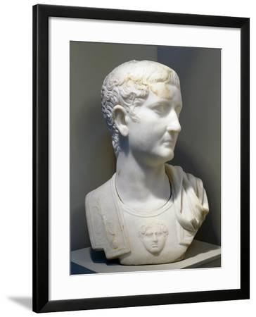 Marble Bust of Emperor Tiberius--Framed Giclee Print