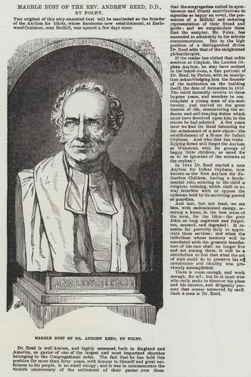 Marble Bust of the Reverend Andrew Reed, Dd, by Foley--Giclee Print