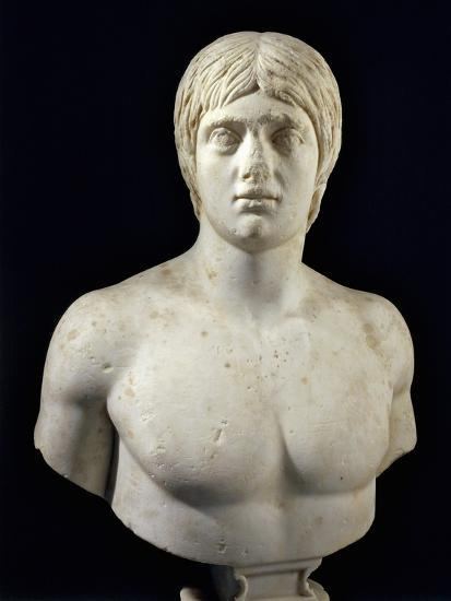 Marble Bust of Young Man--Giclee Print