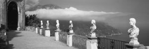 Marble Busts Along a Walkway, Ravello, Amalfi Coast, Salerno, Campania, Italy
