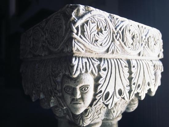 Marble Capital, Collegiate Church of St Mary, Visso, Marche, Italy--Giclee Print