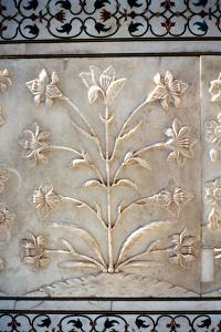 Marble Carving of Formalised Lily, Taj Mahal, Agra, India, 17th Century