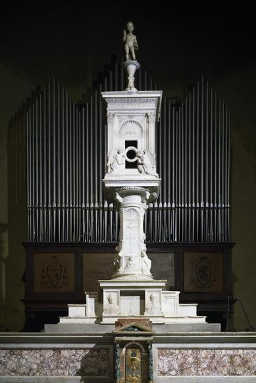 Marble Ciborium in Cathedral of Volterra, Tuscany, Italy--Giclee Print