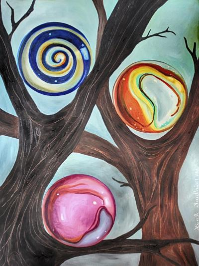 Marble Forest 2-Leah Saulnier-Giclee Print