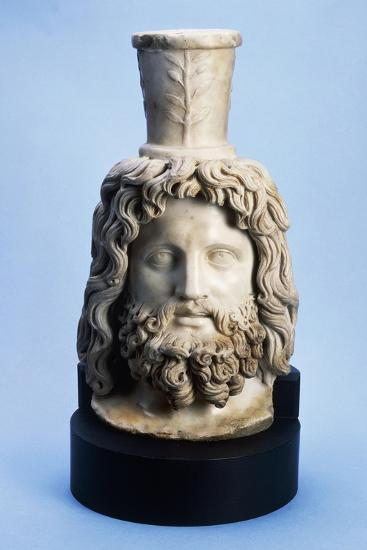 Marble Head of Egyptian God Serapis, from Mithras Walbrook to Londinium--Giclee Print