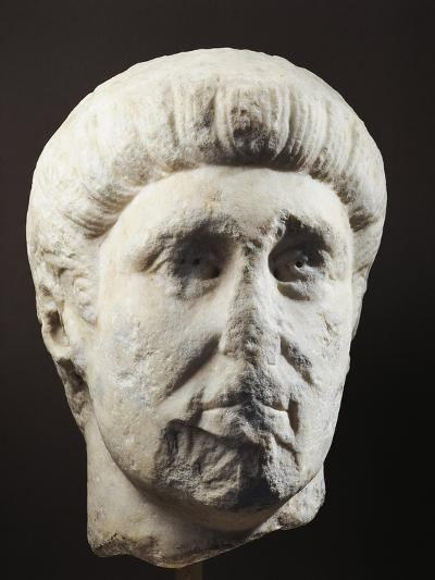 Marble Head of Emperor Constantine, 307-337 A.D.--Giclee Print