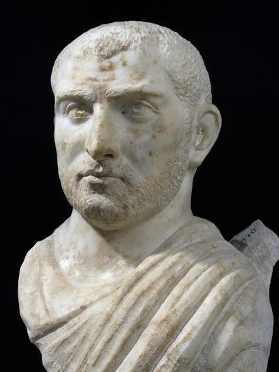 Marble Head of Man with Beard, 3rd Century--Giclee Print