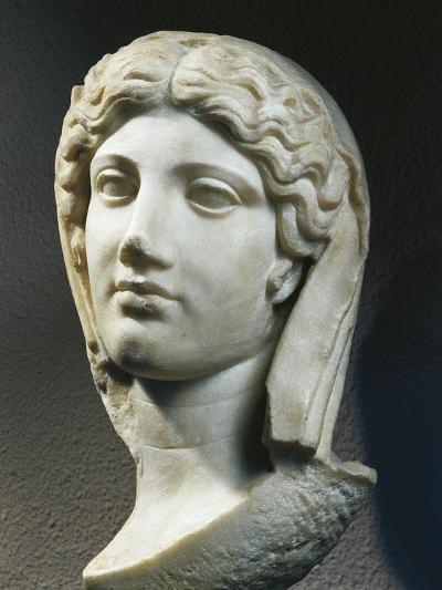 Marble Head of Woman, from Ephesus, Turkey--Giclee Print