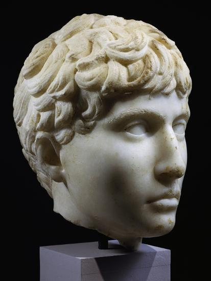 Marble Head of Young Barbarian, Artifact from Volubilis, Morocco, 27-14 BC--Giclee Print