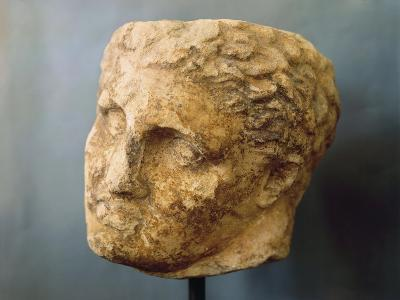 Marble Male Head Attributed to Skopas of Paros--Giclee Print
